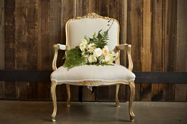 Bash and Bloom - cream and green bouquet