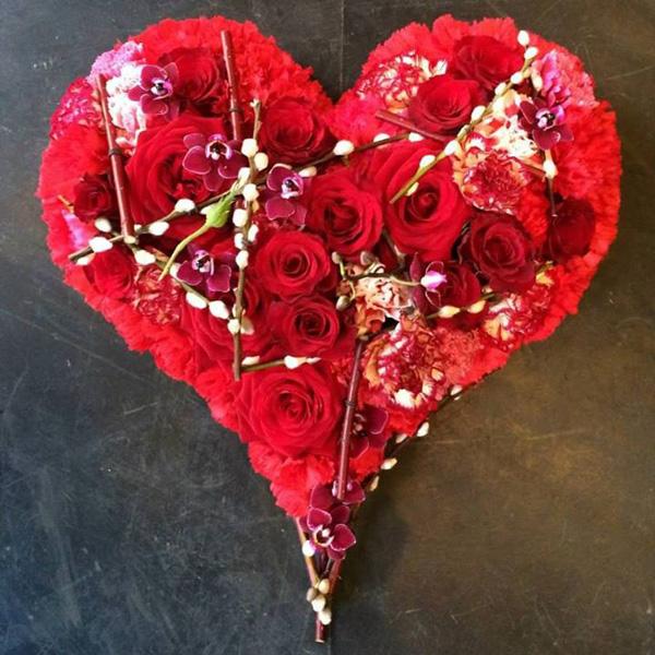 BLOMST Stein Hansen, red rose heart for Valentine's Day
