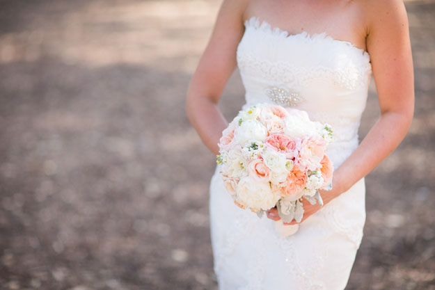 Posh Peony - Blush and peach bridal bouquet