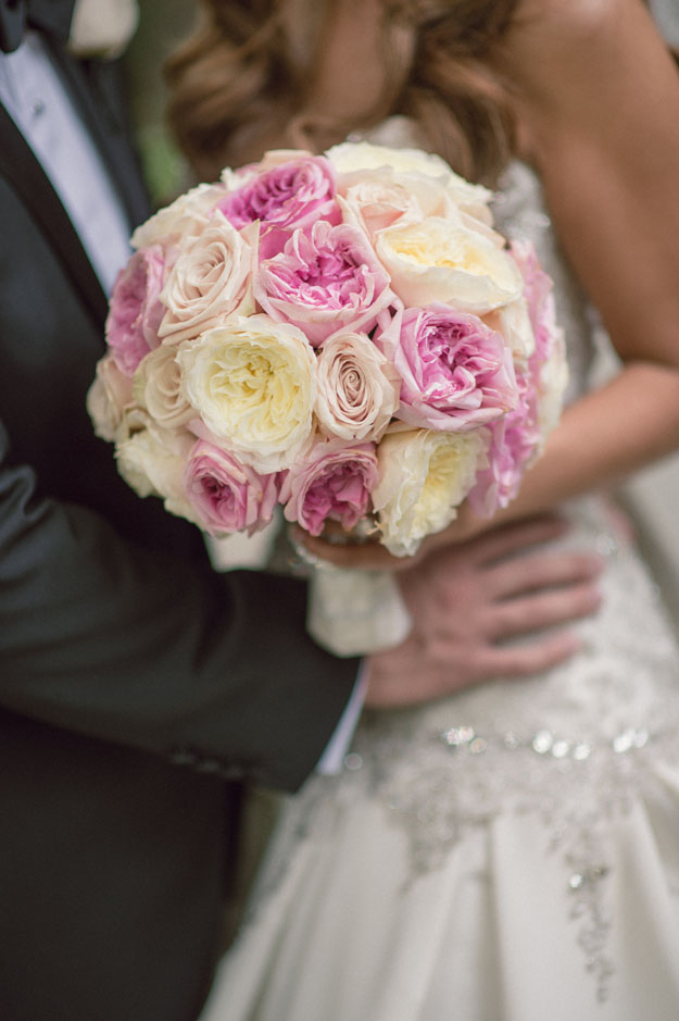 Posh Peony - garden roses for a bridal bouquet