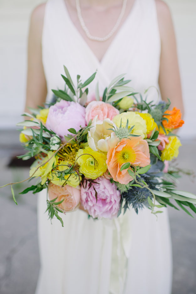 Shutter Sam Photography, Bloom Michigan - yellow and pink bridal bouquet