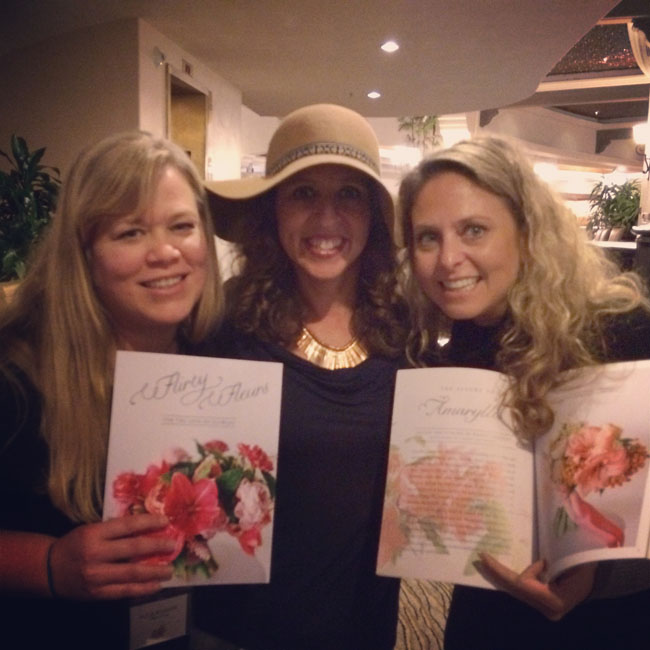 alicia schwede, robyn rissman, kimberly schwede with flirty fleurs magazine