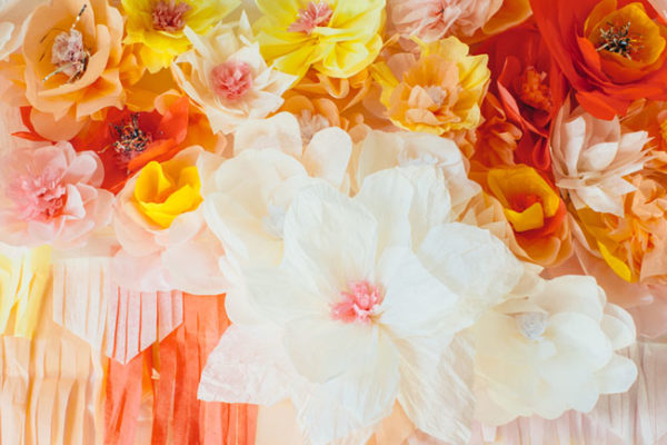 Party Prep Workshop paper flowers