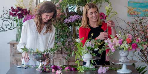 Heather Barrie of Gathering Floral + Event Design and Anne Dabney of Stems