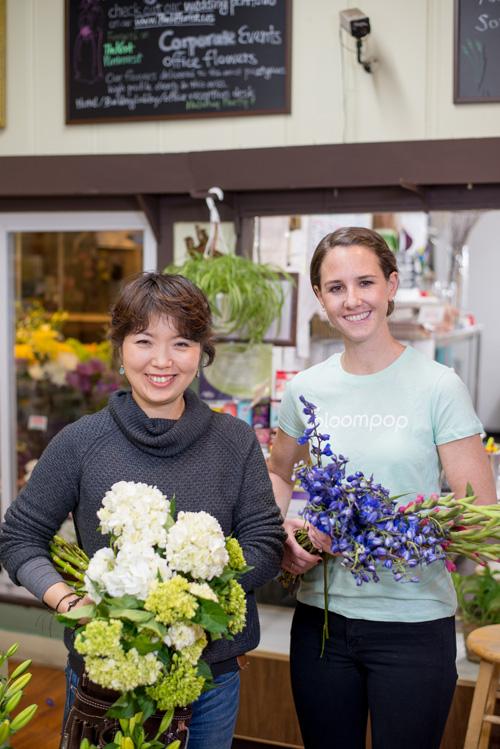 Jeanne Ha  of Park Florist and Megan Doherty of Bloompop