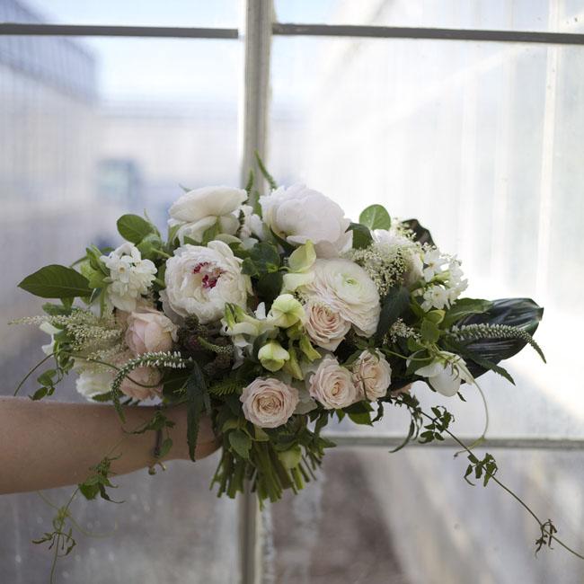 Florabundance Design Days 2016 - Katie of Mac's Floral designed this white and blush bridal bouquet