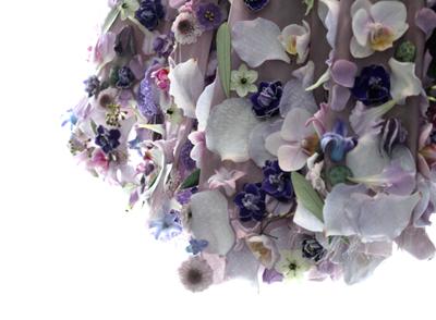 Joseph Massie Lavender Floral Dress Details