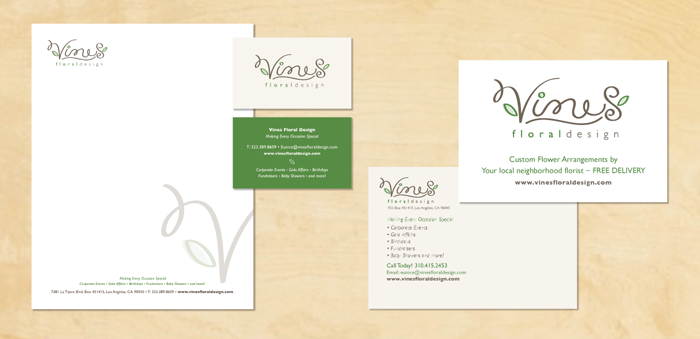 Kimberly Schwede Graphic Design - Business cards for Florists