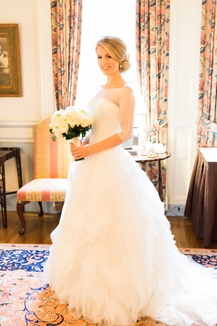 Anissa Rae Flowers & Refinements, NYC - bride with a white bridal bouquet