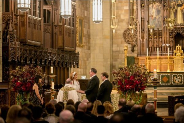 Anissa Rae Flowers & Refinements, NYC - ceremony in a cathedral