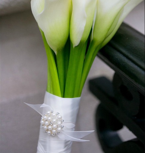 Anissa Rae Flowers & Refinements, NYC - detail on ribbon wrap