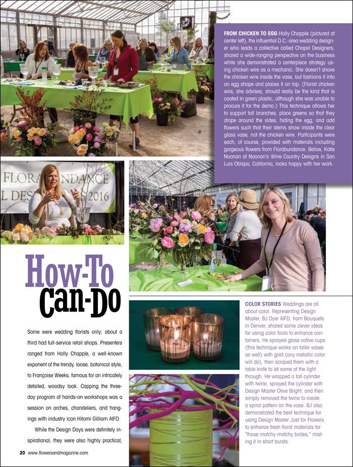 Florabundance Design Days featured in Flowers& Magazine