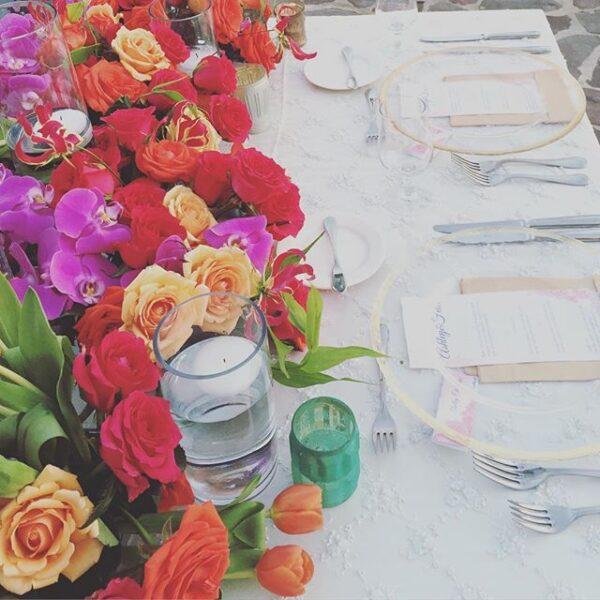 Florenta Floral Design - Mexico - vibrant table setting