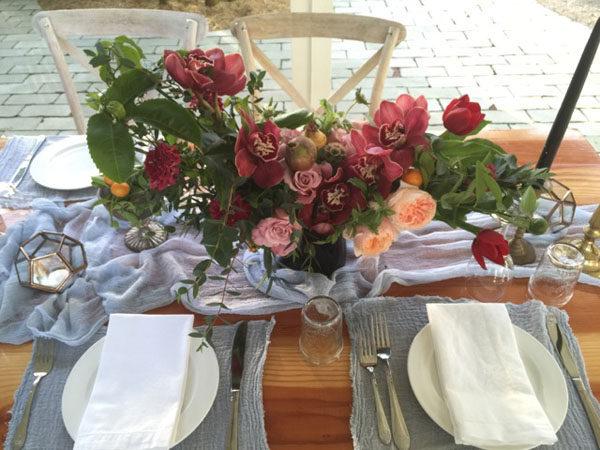 Florenta Floral Design - burgundy flower centerpiece