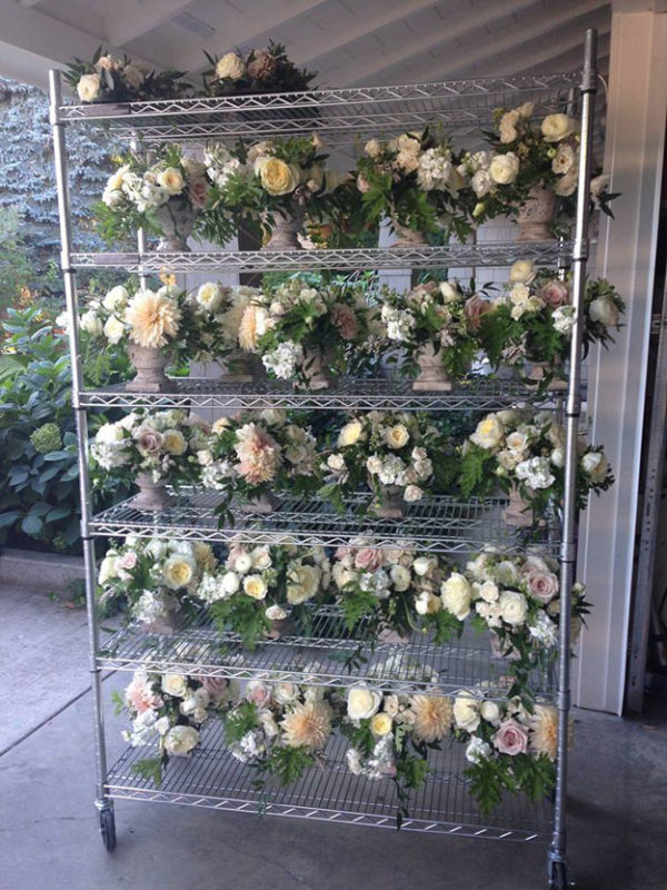 a new leaf floral design - flowers on carts
