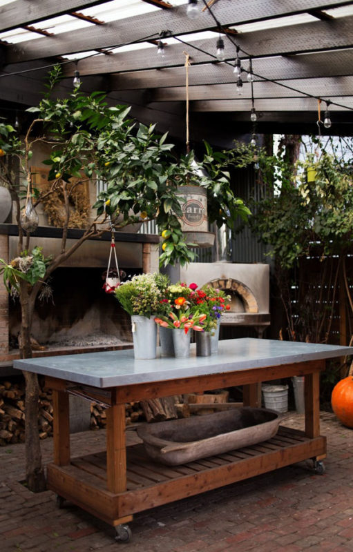 work table lila b stable cafe sf 7 ; Gardenista