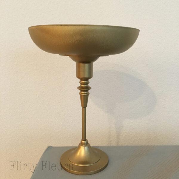 Flirty Fleurs DIY Gold Pedestal