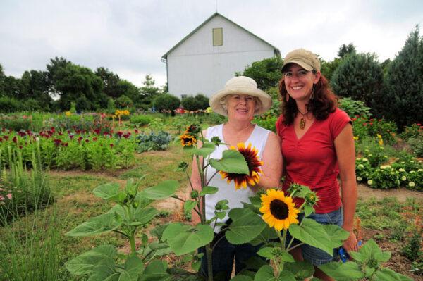 Buckeye Blooms - Kay and Susan in their flower field.