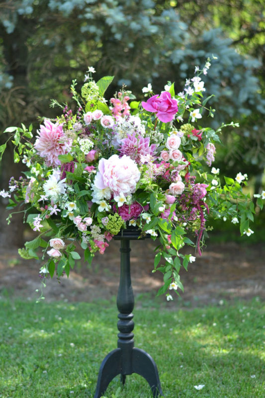 Buckeye Blooms - arrangement with peonies, dahlias and roses