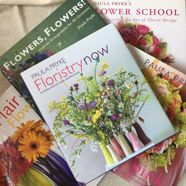 books by floral designer, Paula Pryke.