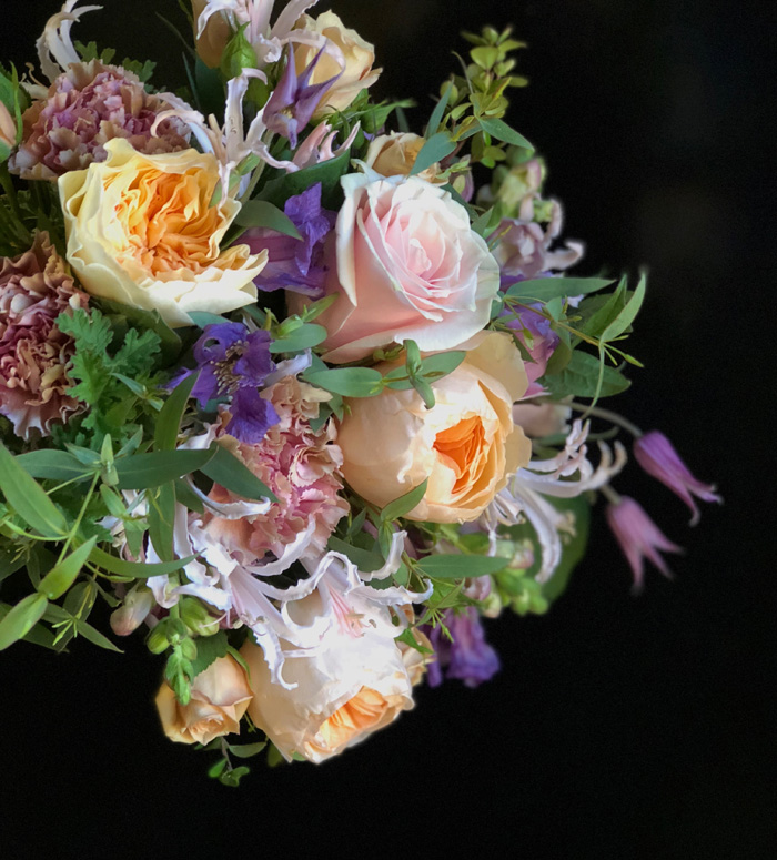 Bridal bouquet designed by Fleurie Flowers in California