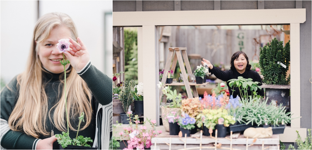 Alicia Schwede and Quynh Nguyen - floral design workshop in los angeles california in october 2019