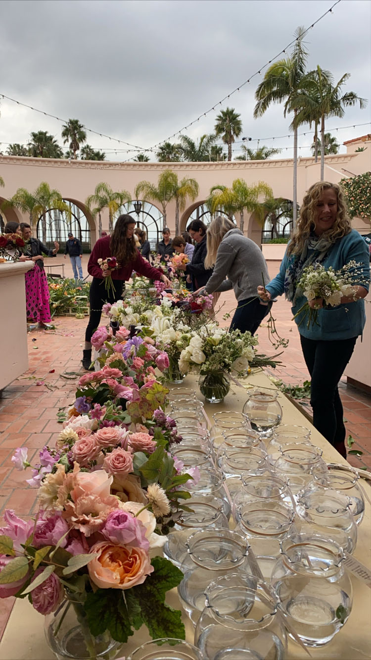 the full bloom flower donation post wedding at florabundance design days 2020